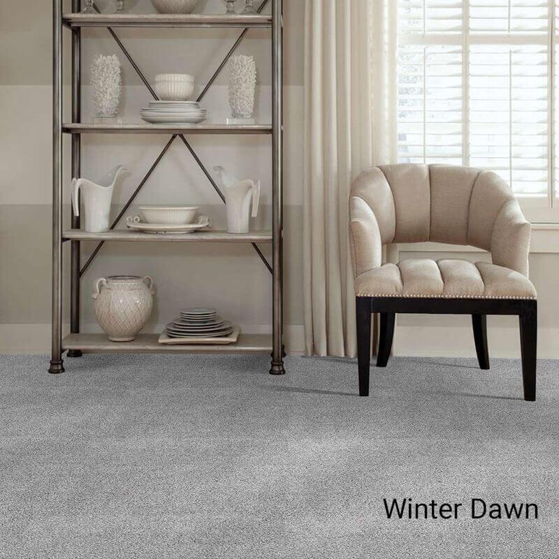 Quiet Sanctuary Shag Area Rug Collection - Winter Dawn Room