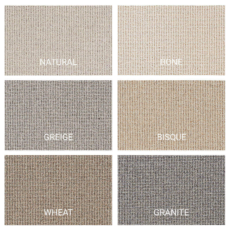 Sisal Tyme Natural Area Rug Collection - 6 Colors Available