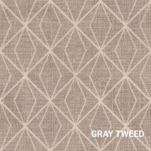 Gray Tweed Milliken Subtle Solitaire