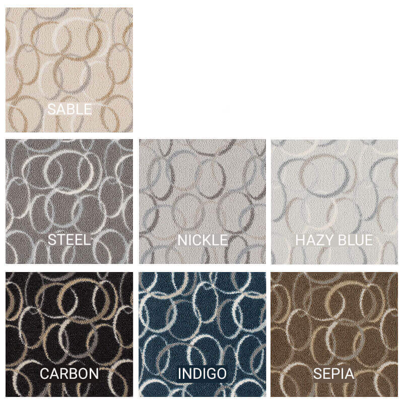 Milliken Pendant Area Rug Collection - 7 Colors Available