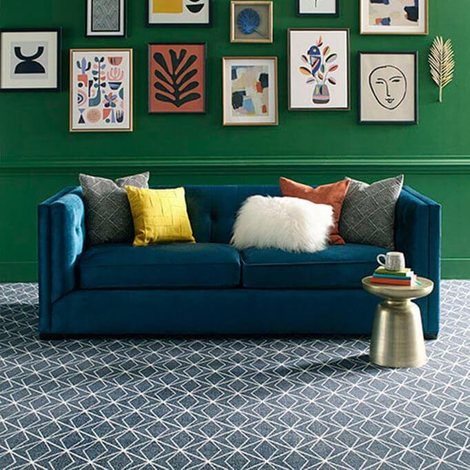 Milliken Subtle Solitaire Indoor Area Rug Collection - ShowRoom