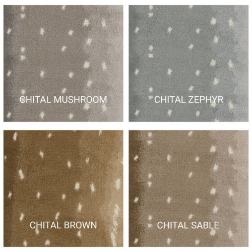 Milliken Chital Exotic Escape Area Rug Collection - 4 Colors Available