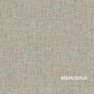 Aqua/Gold Techtone Rug