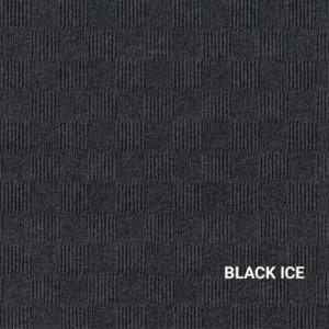 Black Ice Crochet Carpet Tile