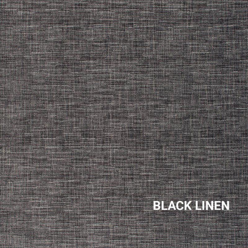 Black Linen Stitches Indoor Rug
