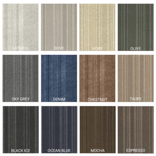 Couture Peel and Stick Indoor Outdoor Carpet Tile - 12 Colors Available