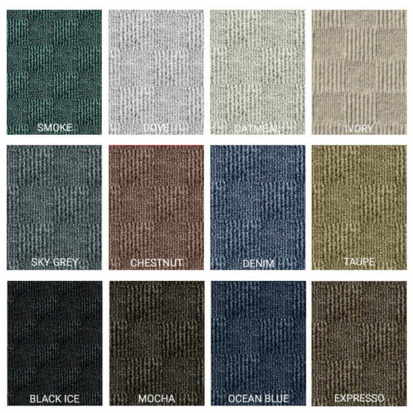 Crochet Peel and Stick Indoor Outdoor Carpet Tile - 12 Colors Available