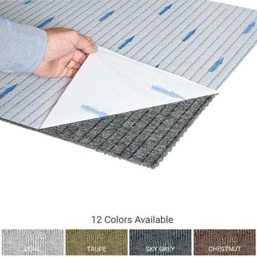 Crochet Peel and Stick Indoor Outdoor Carpet Tile