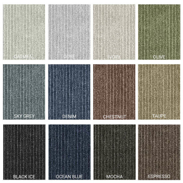 Cutting Edge Peel and Stick Indoor Outdoor Carpet Tile - 12 Colors Available