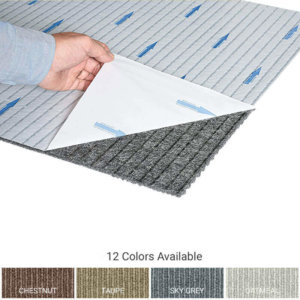 Cutting Edge Peel and Stick Indoor Outdoor Carpet Tile