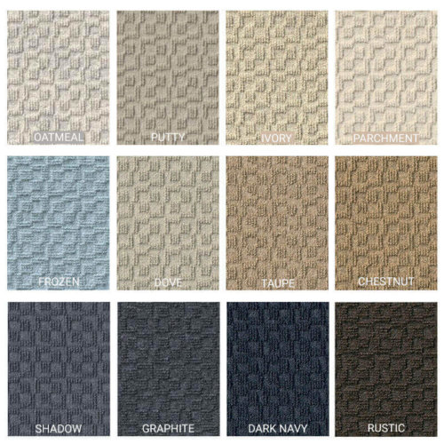 Cityscape Peel and Stick Indoor Outdoor Carpet Tile - 12 colors available
