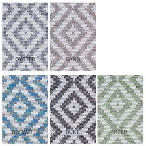 Diamond Head Custom Cut Indoor Outdoor Area Rug Collection - 5 Colors Available