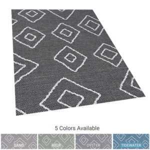Hana Bay Custom Cut Indoor Outdoor Area Rug Collection