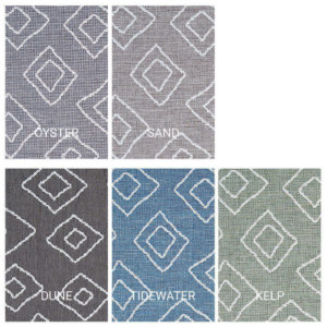 Hana Bay Custom Cut Indoor Outdoor Area Rug Collection - 5 Colors Available