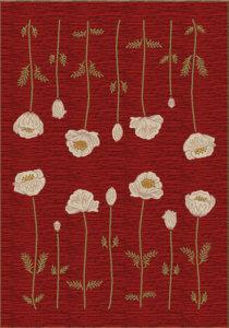Milliken Poppy area rug - Garnet