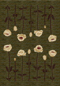 Milliken Poppy area rug - Olive