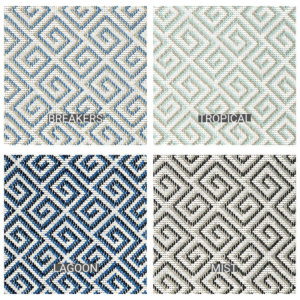 San Clemente Custom Cut Indoor Outdoor Area Rug Collection - 4 Colors Available