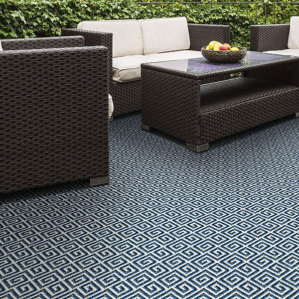 San Clemente Custom Cut Indoor Outdoor Area Rug Collection - Room