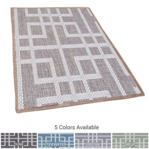 Sunset Beach Custom Cut Indoor Outdoor Area Rug Collection