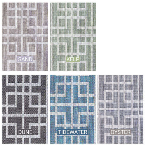 Sunset Beach Custom Cut Indoor Outdoor Area Rug Collection - 5 Colors Available