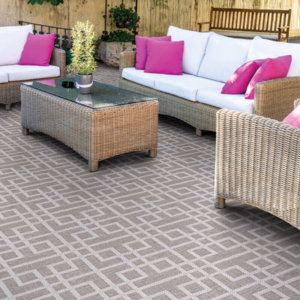 Sunset Beach Custom Cut Indoor Outdoor Area Rug Collection - Room