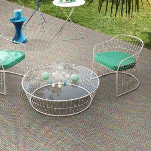 Tahiti Custom Cut Indoor Outdoor Area Rug Collection - Room