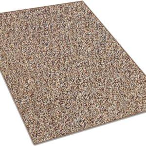 Almond Brown & Tan Indoor-Outdoor Artificial Grass Turf Area Rug Carpet