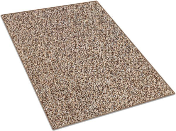 Almond Brown & Tan Indoor-Outdoor Artificial Grass Turf Area Rug Carpet