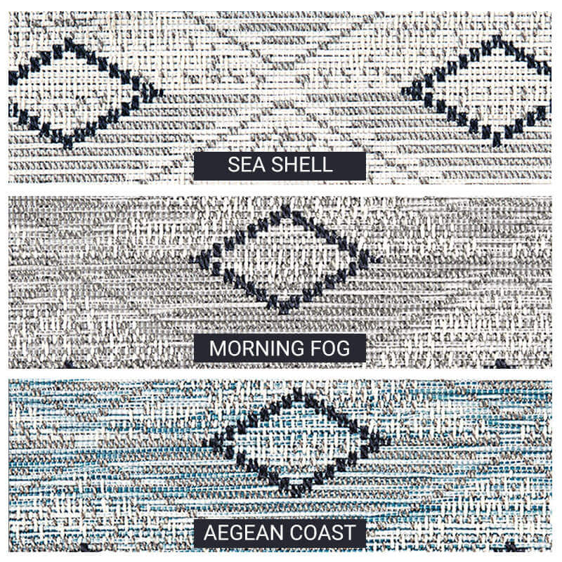 Barbados Custom Cut Indoor Outdoor Area Rug Collection - 3 Colors Available