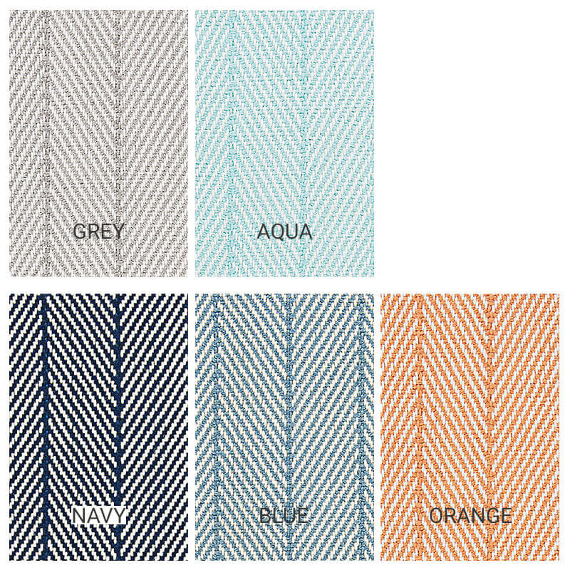 Marathon Key Custom Cut Indoor Outdoor Area Rug Collection - 5 Colors Available