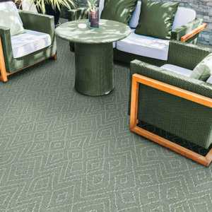 Woodnote Custom Cut Indoor Outdoor Area Rug Collection - Room
