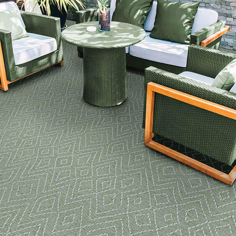 Woodnote Custom Cut Indoor Outdoor Area Rug Collection - Room