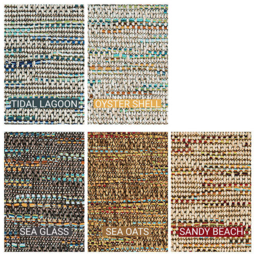 Grand Turk Custom Cut Indoor Outdoor Area Rug Collection - 5 Colors Available