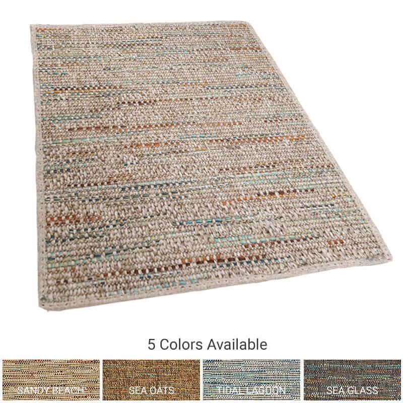 Grand Turk Custom Cut Indoor Outdoor Area Rug Collection