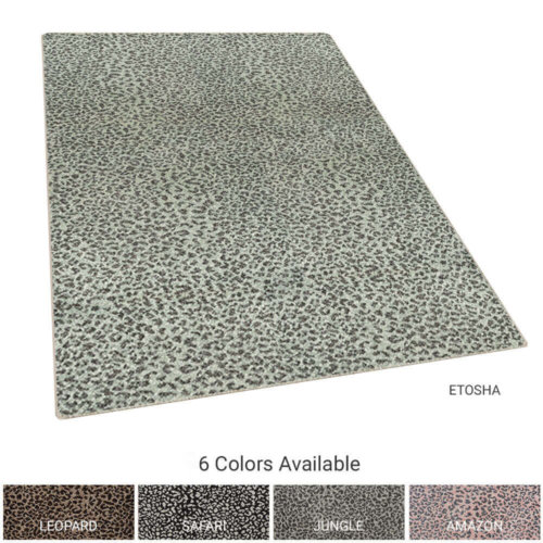 Ceremony Leopard Print Woven Indoor Area Rug Collection