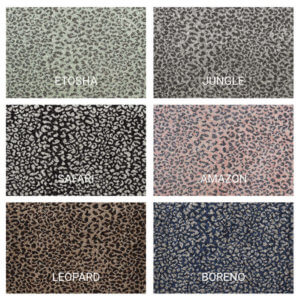 Ceremony Leopard Print Woven Indoor Area Rug Collection - 6 Colors Available