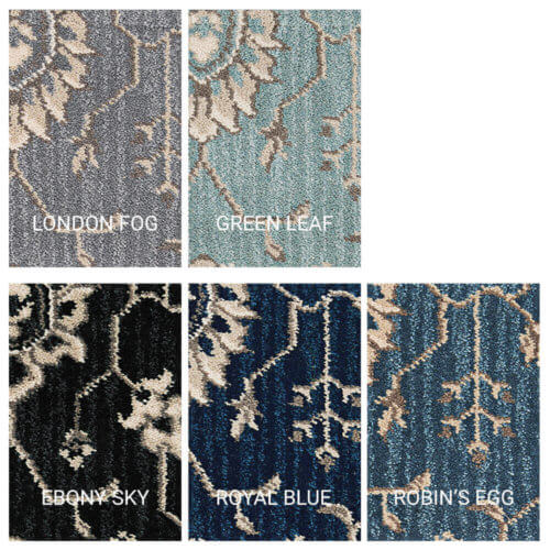 New Keshan Traditional Indoor Area Rug Collection - 5 Colors Available