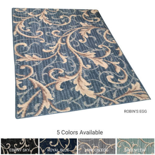Scroll Stria Traditional Indoor Area Rug Collection